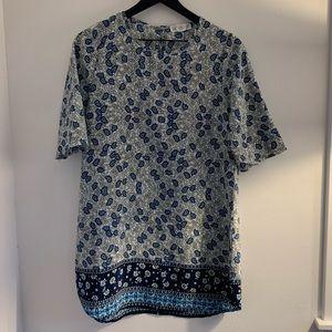 Blue paisley boutique shift dress